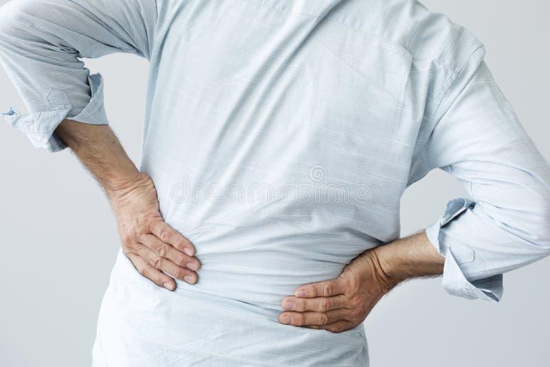 πίσω πόνος ατόμων στοκ εικόνες