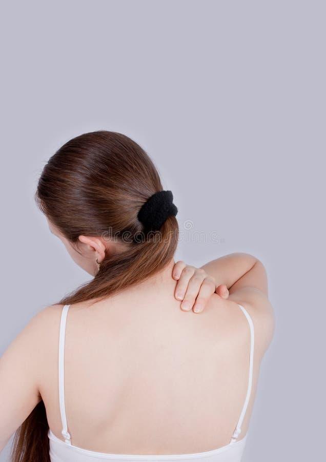 πίσω πόνος λαιμών στοκ φωτογραφίες με δικαίωμα ελεύθερης χρήσης