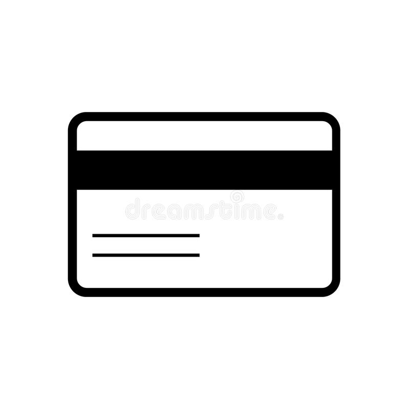 πίσω πλευρά πιστωτικών μπροστινή εικονιδίων καρτών απεικόνιση αποθεμάτων