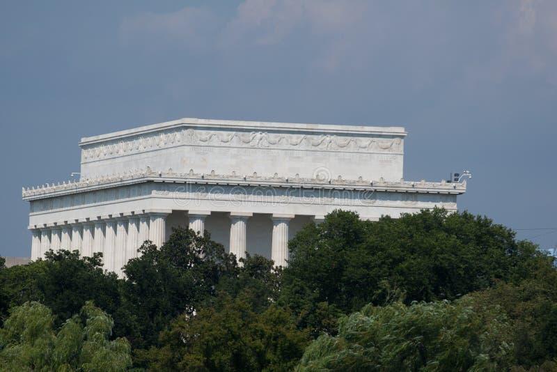 Πίσω πλευρά του μνημείου του Λίνκολν στοκ εικόνα