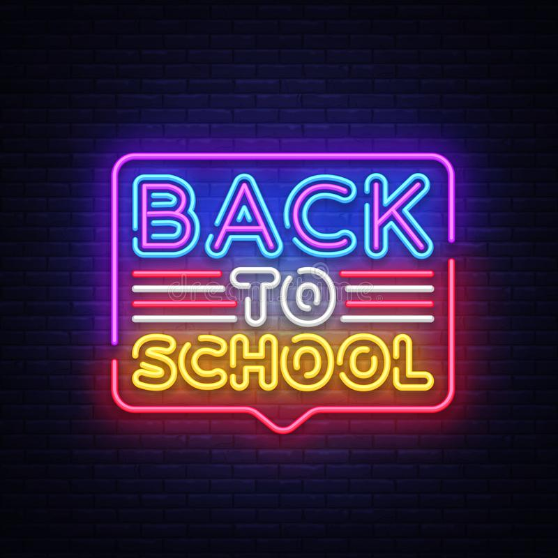 Πίσω στο διάνυσμα νέου προτύπων σχεδίου σχολικών ευχετήριων καρτών Σύγχρονο σχέδιο τάσης, η αρχή του νέου σχολικού έτους διανυσματική απεικόνιση