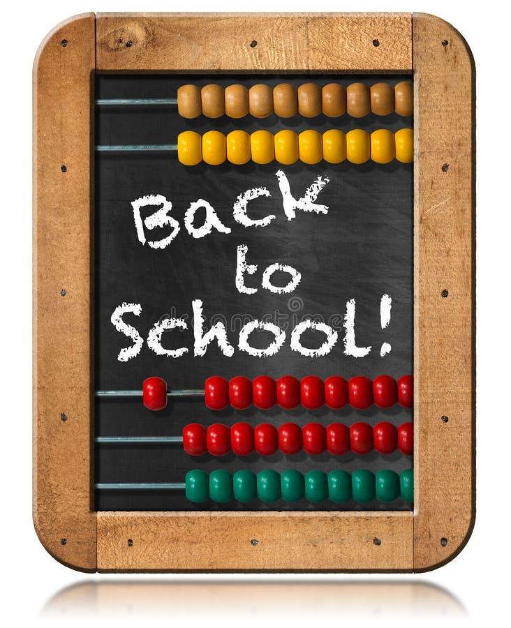 Πίσω στο σχολείο - άβακας και πίνακας απεικόνιση αποθεμάτων