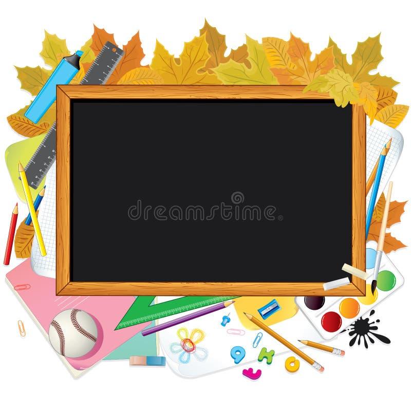 Πίσω στο σχολείο. Εικόνα με ελεύθερου χώρου για το κείμενο στοκ εικόνες με δικαίωμα ελεύθερης χρήσης