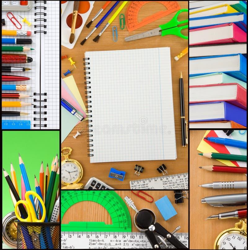 πίσω σχολείο κολάζ στοκ εικόνα με δικαίωμα ελεύθερης χρήσης