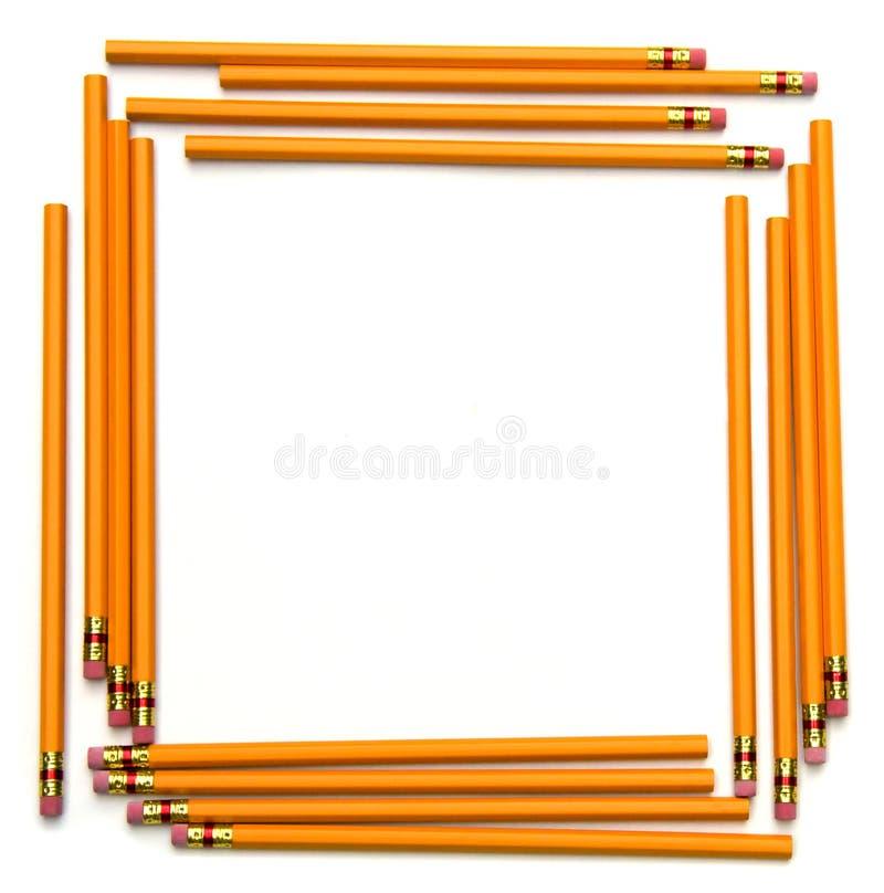 πίσω σχολείο μολυβιών πλαισίων στοκ εικόνες