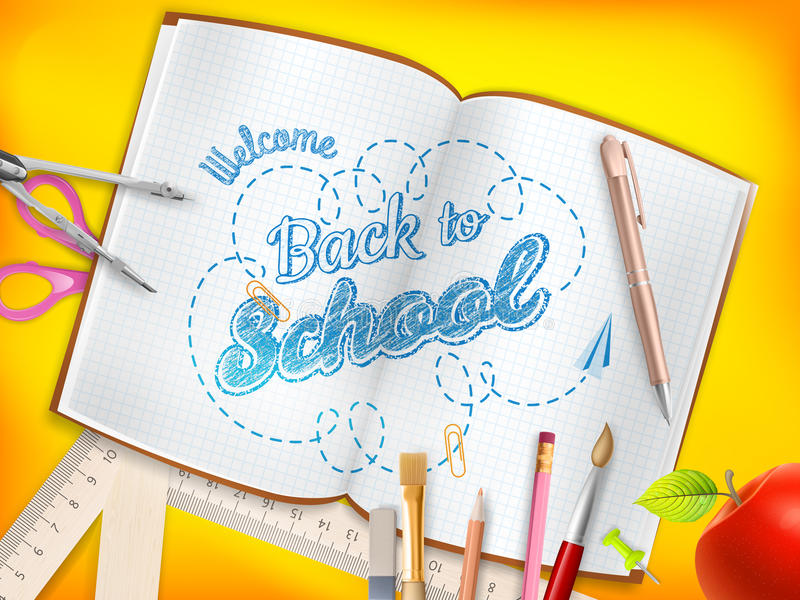 πίσω σχολείο ανασκόπησης 10 eps ελεύθερη απεικόνιση δικαιώματος