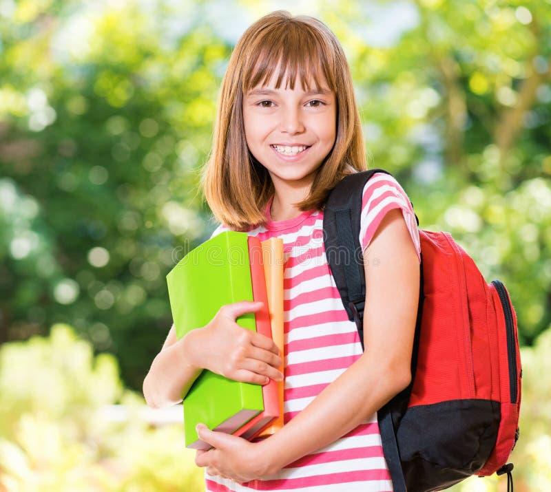 πίσω σχολείο κοριτσιών στοκ εικόνα