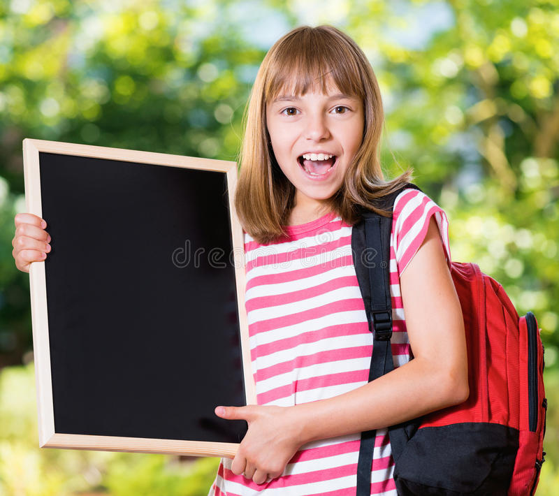 πίσω σχολείο κοριτσιών στοκ εικόνα με δικαίωμα ελεύθερης χρήσης