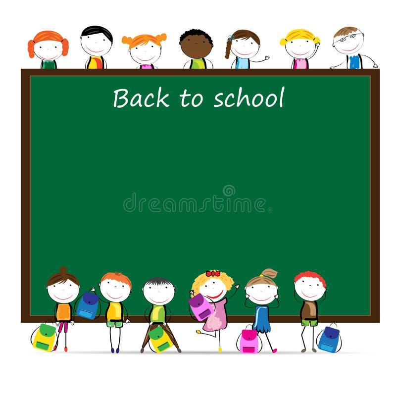 πίσω σχολείο διανυσματική απεικόνιση