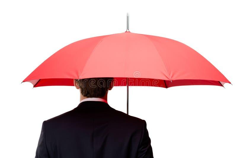 Πίσω της ομπρέλας εκμετάλλευσης ατόμων υπερυψωμένης στοκ φωτογραφίες με δικαίωμα ελεύθερης χρήσης