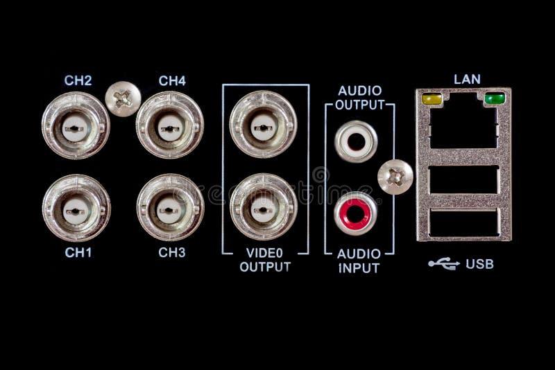 Πίσω της συσκευής CCTV στοκ εικόνα