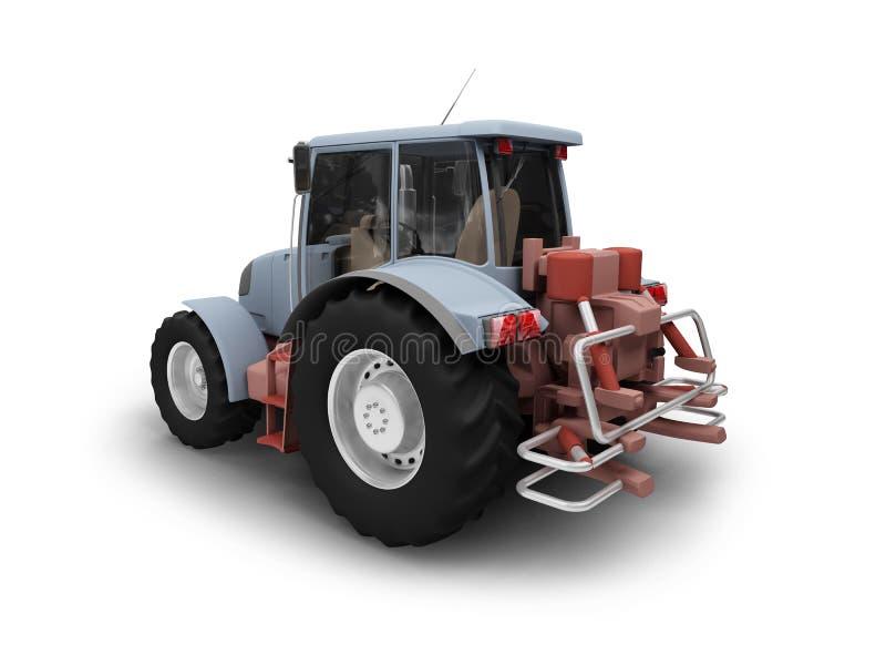 πίσω όψη tractormachine ελεύθερη απεικόνιση δικαιώματος