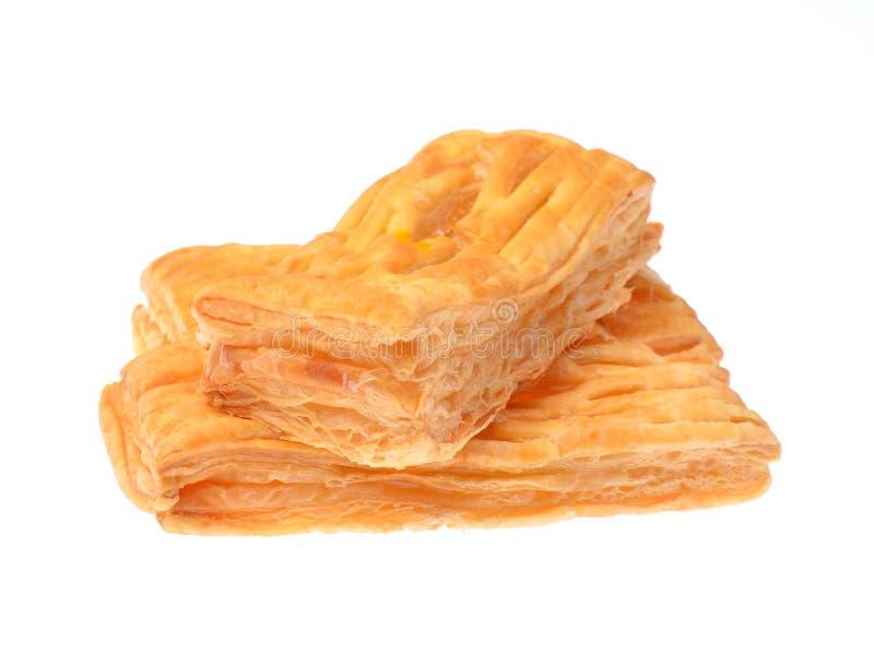 Πίτα ανανά που απομονώνεται στο άσπρο υπόβαθρο στοκ εικόνες