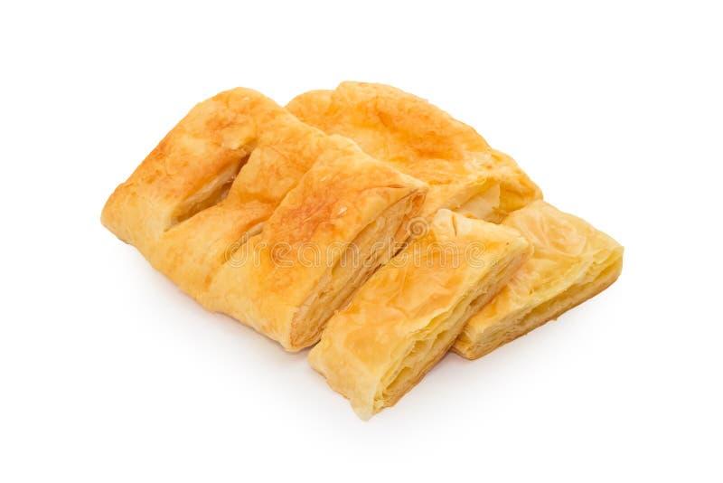 Πίτα ανανά που απομονώνεται στο άσπρο υπόβαθρο στοκ φωτογραφίες με δικαίωμα ελεύθερης χρήσης