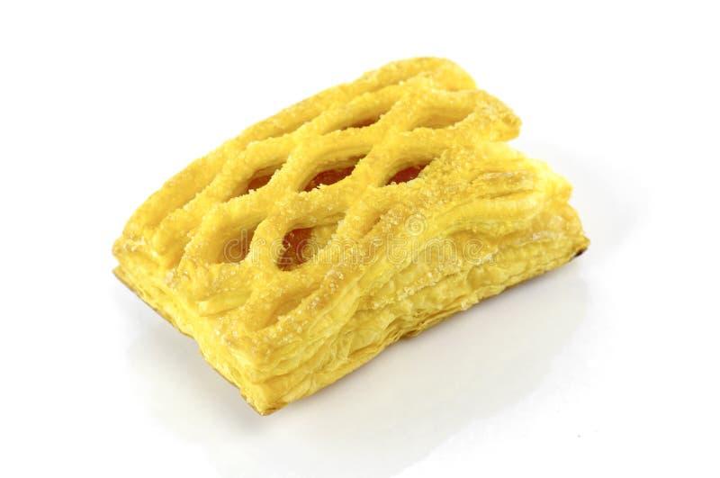 Πίτα ανανά που απομονώνεται στο άσπρο υπόβαθρο στοκ φωτογραφία
