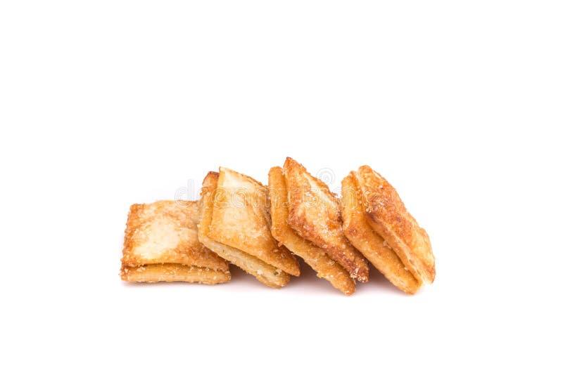 Πίτα ανανά που απομονώνεται στο άσπρο υπόβαθρο στοκ εικόνα