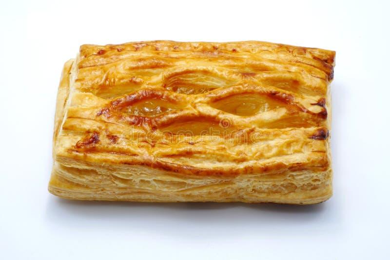 Πίτα ανανά που απομονώνεται στο άσπρο υπόβαθρο στοκ φωτογραφία με δικαίωμα ελεύθερης χρήσης