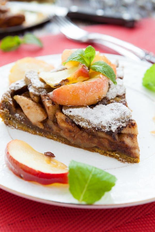 Πίτα εύγευστων μήλων με τον καφέ στοκ εικόνες με δικαίωμα ελεύθερης χρήσης
