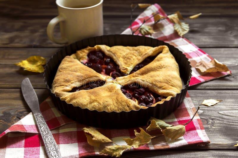 Πίτα κερασιών και μήλων στοκ εικόνες με δικαίωμα ελεύθερης χρήσης