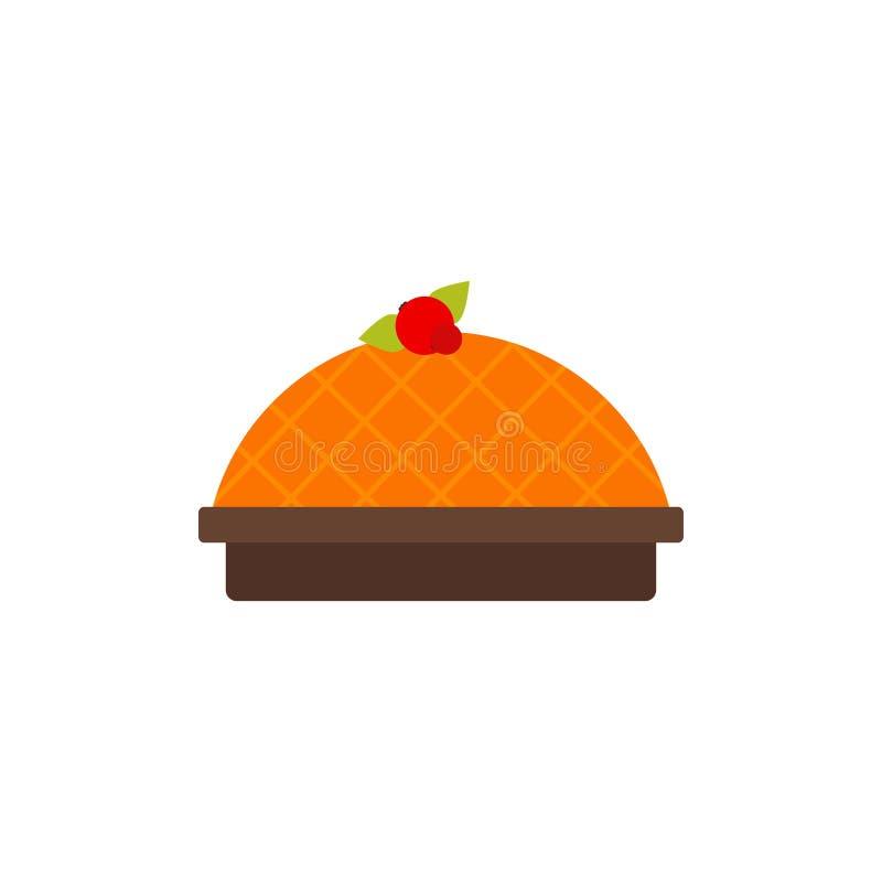 Πίτα κολοκύθας ή γλυκών πατατών ελεύθερη απεικόνιση δικαιώματος