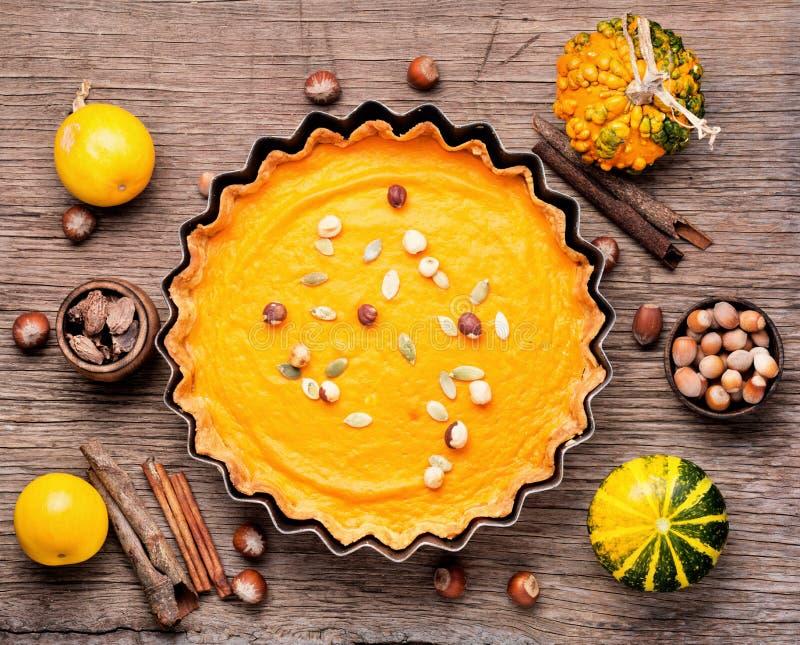 Πίτα κολοκύθας φθινοπώρου στοκ εικόνες με δικαίωμα ελεύθερης χρήσης