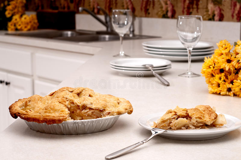 πίτα κουζινών μήλων στοκ φωτογραφία με δικαίωμα ελεύθερης χρήσης