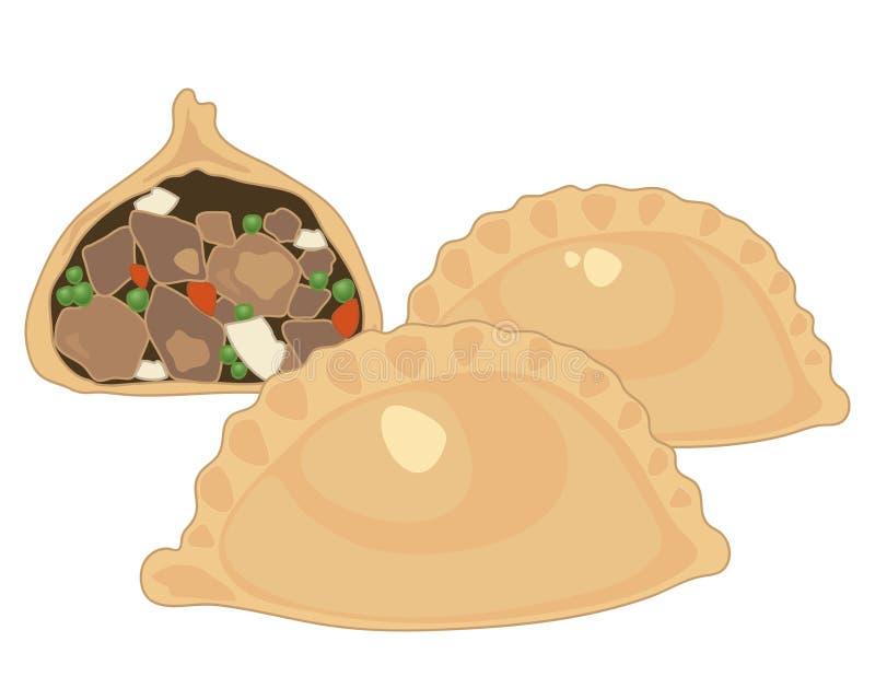 Πίτα κρέατος διανυσματική απεικόνιση