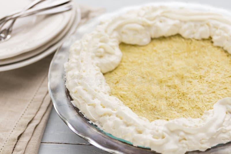 Πίτα κρέμας καρύδων στοκ εικόνα με δικαίωμα ελεύθερης χρήσης
