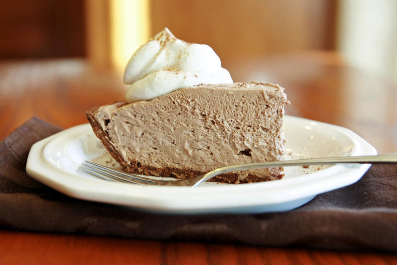 Πίτα κρέμας σοκολάτας στοκ εικόνα