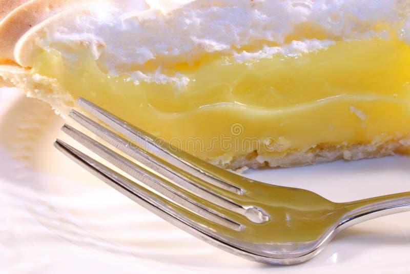 πίτα λεμονιών δικράνων στοκ φωτογραφίες