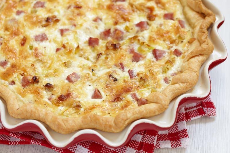 Πίτα Λωρραίνη στοκ εικόνες