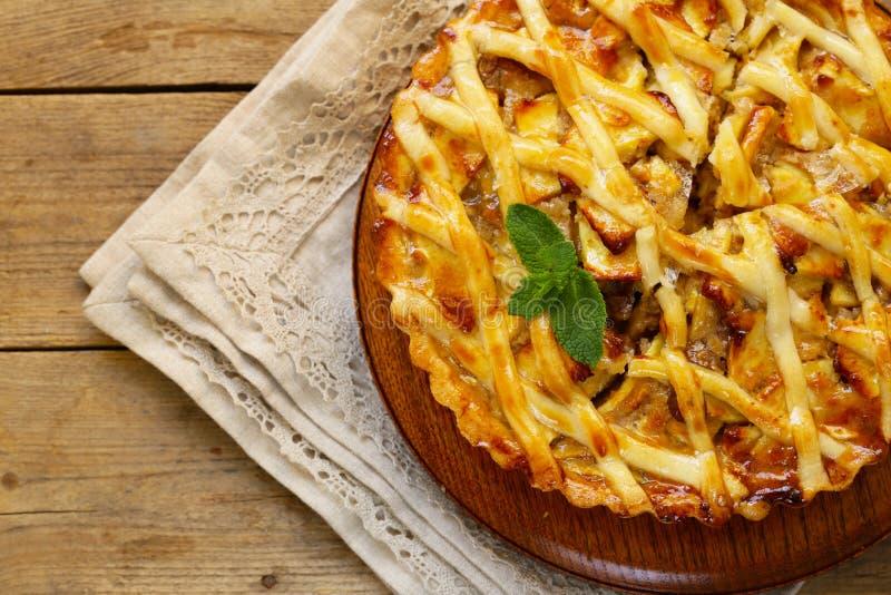 πίτα μήλων παραδοσιακή στοκ φωτογραφία με δικαίωμα ελεύθερης χρήσης