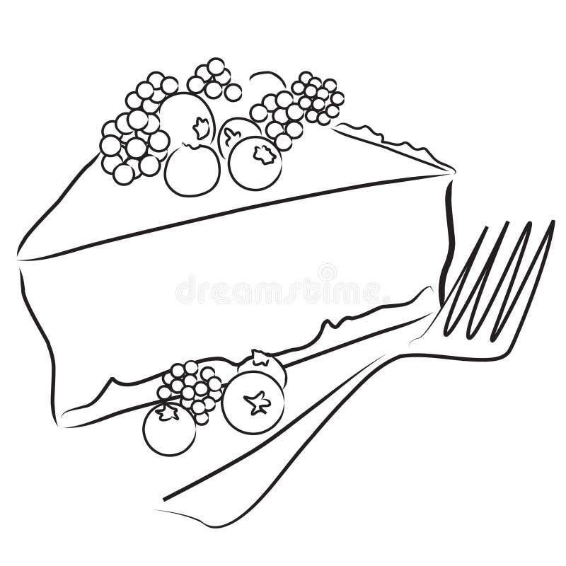 πίτα μούρων διανυσματική απεικόνιση