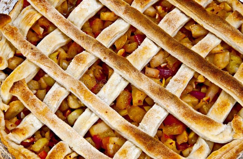 πίτα ροδάκινων μήλων στοκ εικόνα με δικαίωμα ελεύθερης χρήσης