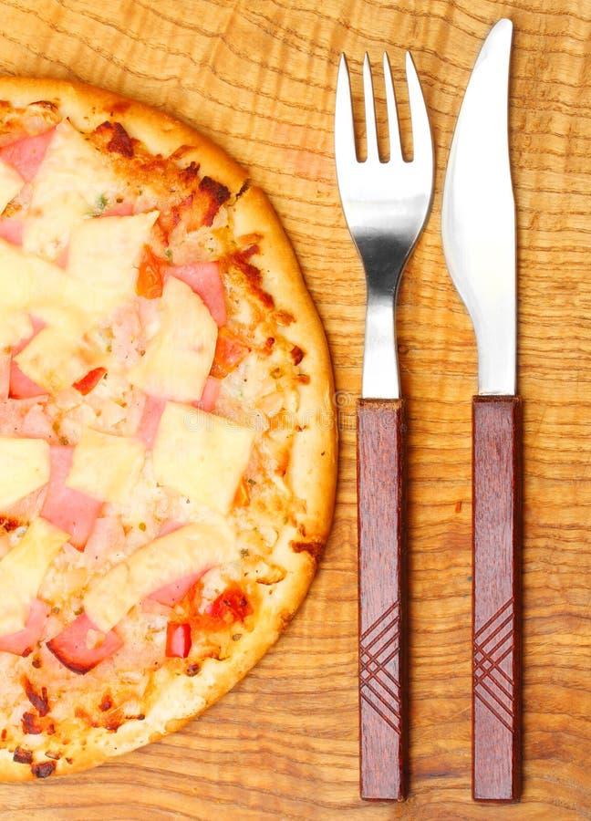 πίτσα ανανά ζαμπόν νόστιμη στοκ φωτογραφία με δικαίωμα ελεύθερης χρήσης