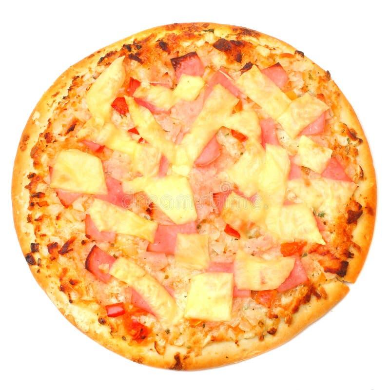 πίτσα ανανά ζαμπόν νόστιμη στοκ εικόνες