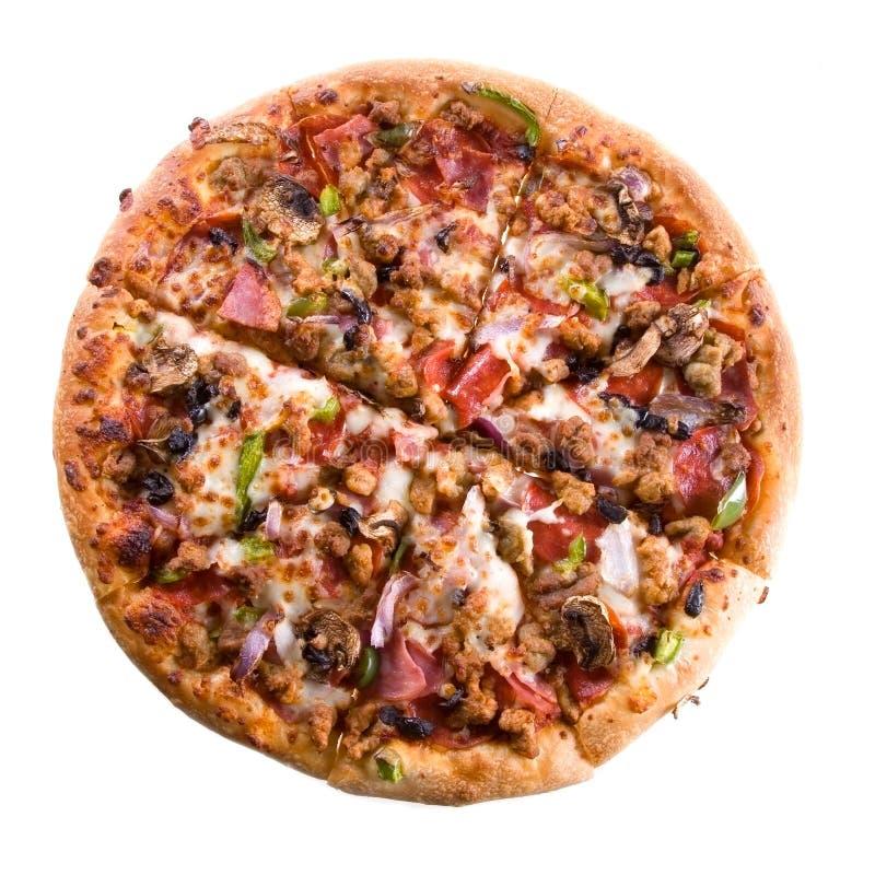 πίτσα ανώτατη στοκ εικόνα με δικαίωμα ελεύθερης χρήσης