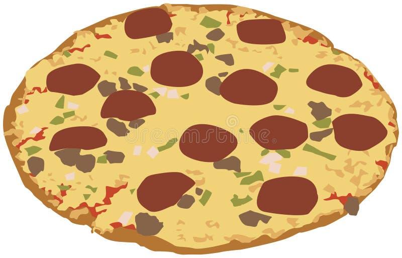 πίτσα απεικόνισης στοκ εικόνα με δικαίωμα ελεύθερης χρήσης