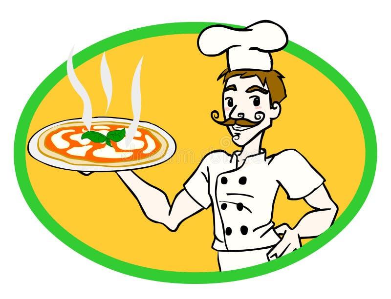 πίτσα αρχιμαγείρων ελεύθερη απεικόνιση δικαιώματος