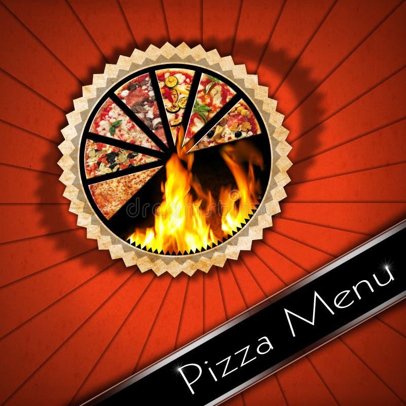 Πίτσα - εκλεκτής ποιότητας σχέδιο επιλογών διανυσματική απεικόνιση