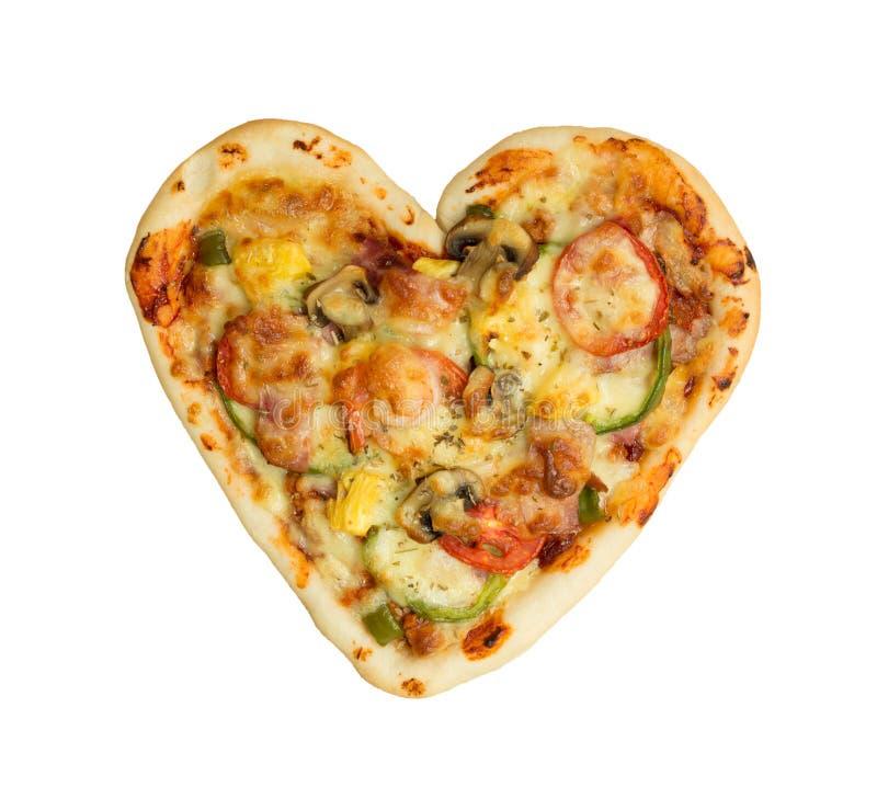 πίτσα καρδιών που διαμορφώνεται στοκ εικόνα με δικαίωμα ελεύθερης χρήσης