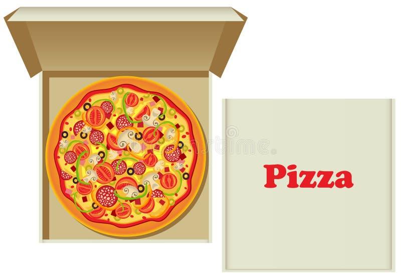 πίτσα κιβωτίων απεικόνιση αποθεμάτων