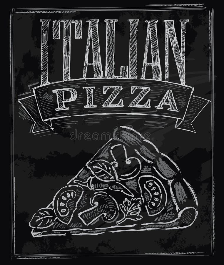 Πίτσα κιμωλίας ελεύθερη απεικόνιση δικαιώματος