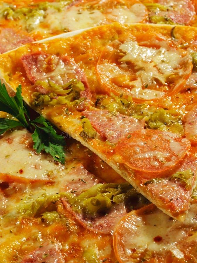 πίτσα κρέατος στοκ εικόνα