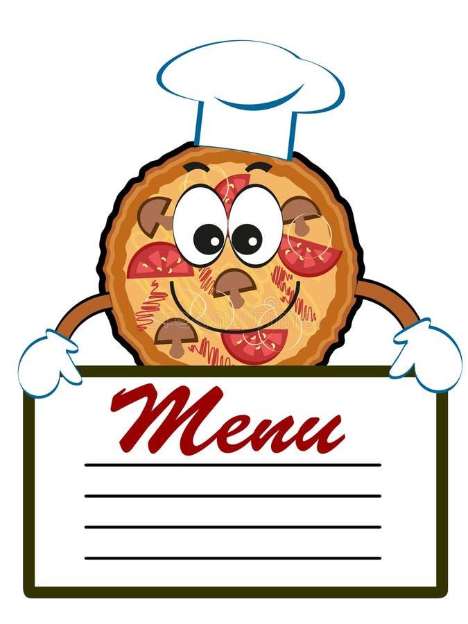 Πίτσα με τις επιλογές ελεύθερη απεικόνιση δικαιώματος