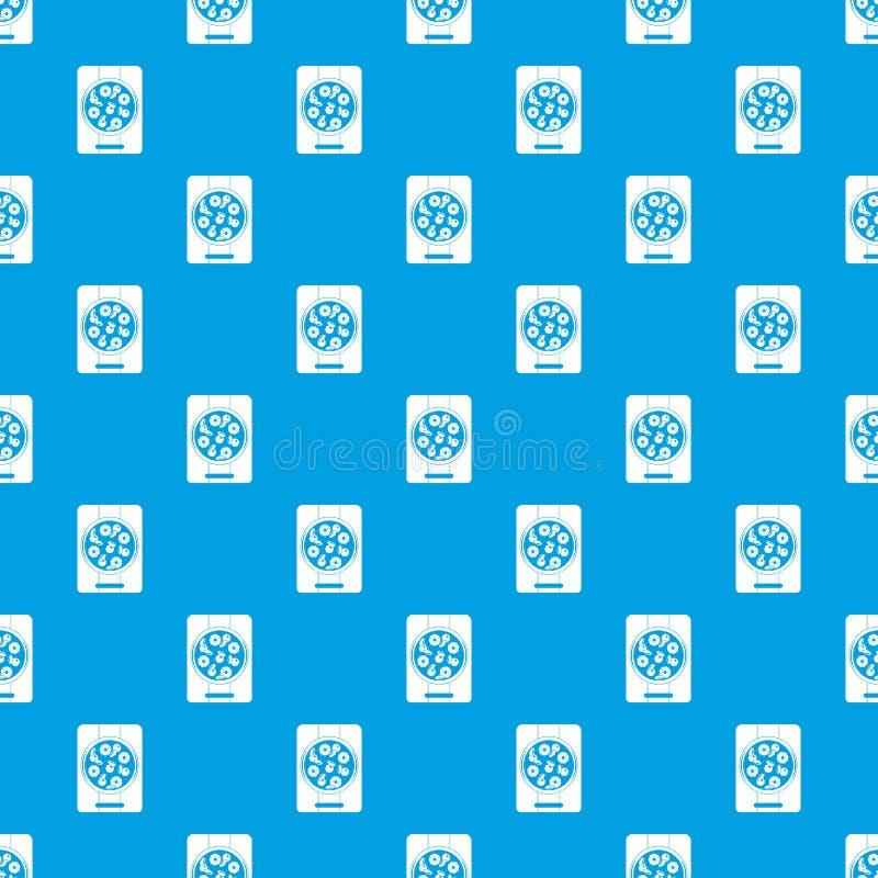 Πίτσα με τον ανανά και βασιλικός στο άνευ ραφής μπλε σχεδίων ελεύθερη απεικόνιση δικαιώματος