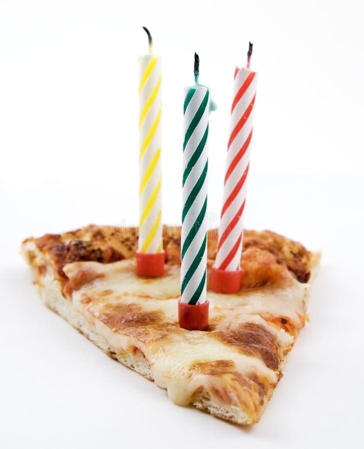 πίτσα μονοπατιών ψαλιδίσματος γενεθλίων στοκ φωτογραφία