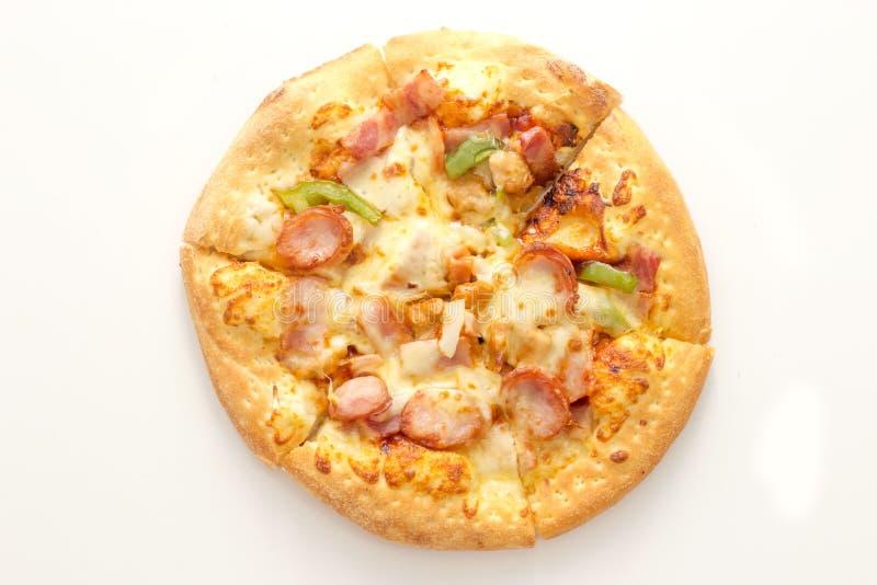πίτσα λουκάνικων capcicum στοκ φωτογραφία με δικαίωμα ελεύθερης χρήσης