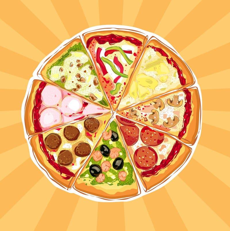 πίτσα πιτών απεικόνιση αποθεμάτων