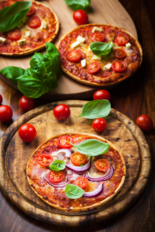 Πίτσα σαλαμιού στοκ εικόνα